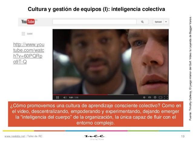 http://www.you tube.com/watc h?v=60PQRp o9T-Q  ¿Cómo promovemos una cultura de aprendizaje consciente colectivo? Como en e...