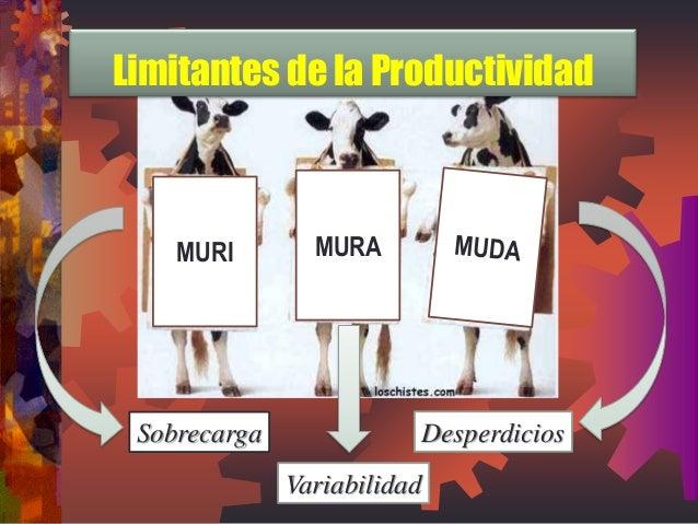 MURI  MURA Sobrecarga Variabilidad  Desperdicios  Limitantes de la Productividad