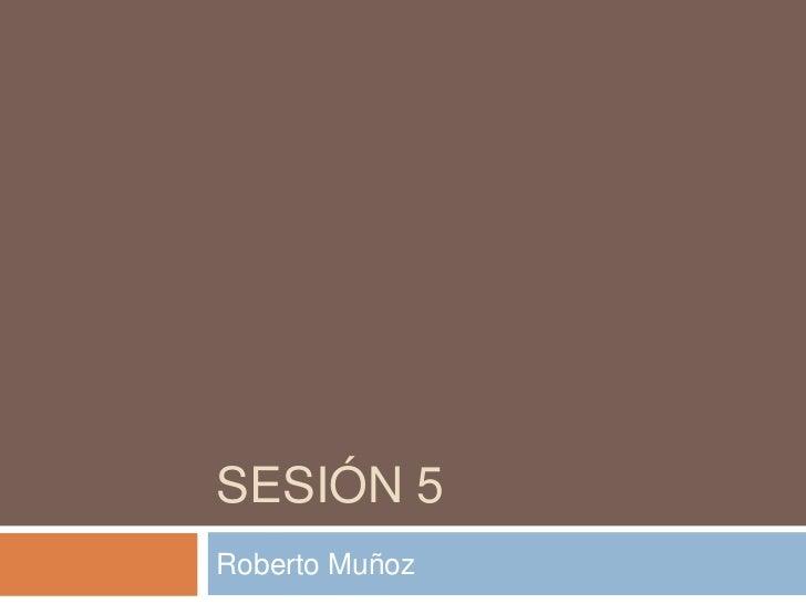 Sesión 5<br />Roberto Muñoz<br />
