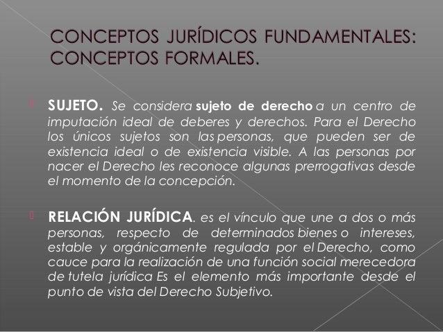  SUJETO. Se considerasujeto de derechoa un centro de imputación ideal de deberes y derechos. Para el Derecho los únicos...