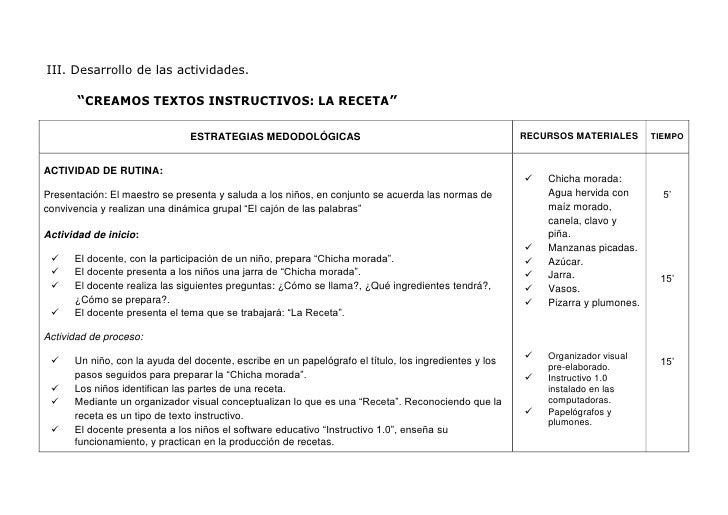 Sesión ap texto instructivo5º Slide 2