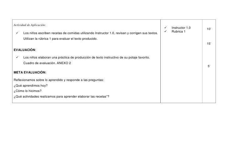 Sesión ap texto instructivo5º Slide 3
