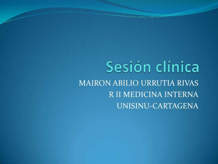 MAIRON ABILIO URRUTIA RIVAS      R II MEDICINA INTERNA        UNISINU-CARTAGENA