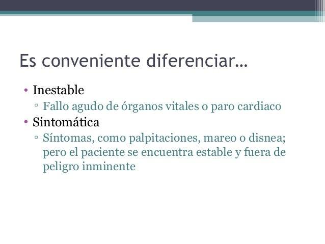 Manejo de bradicardia y taquicardia sintomáticas en Urgencias (agosto 2013) Slide 2