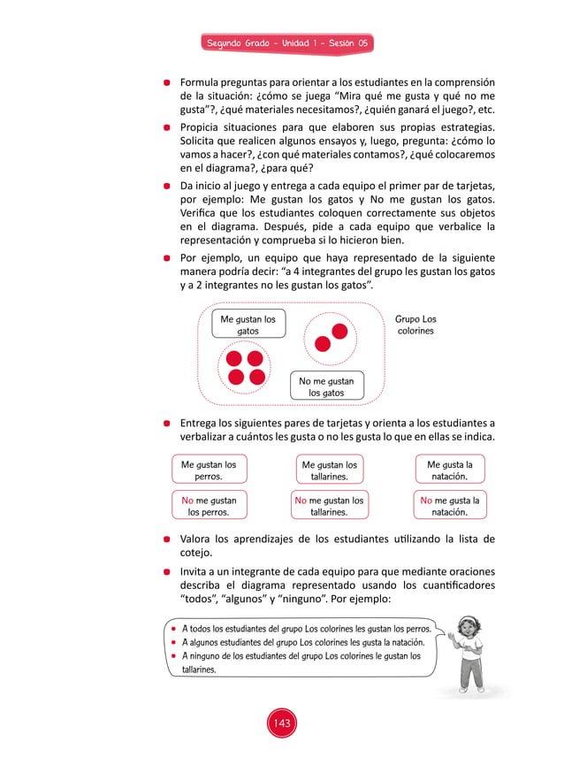 143 Segundo Grado - Unidad 1 - Sesión 05  Formula preguntas para orientar a los estudiantes en la comprensión de la situa...