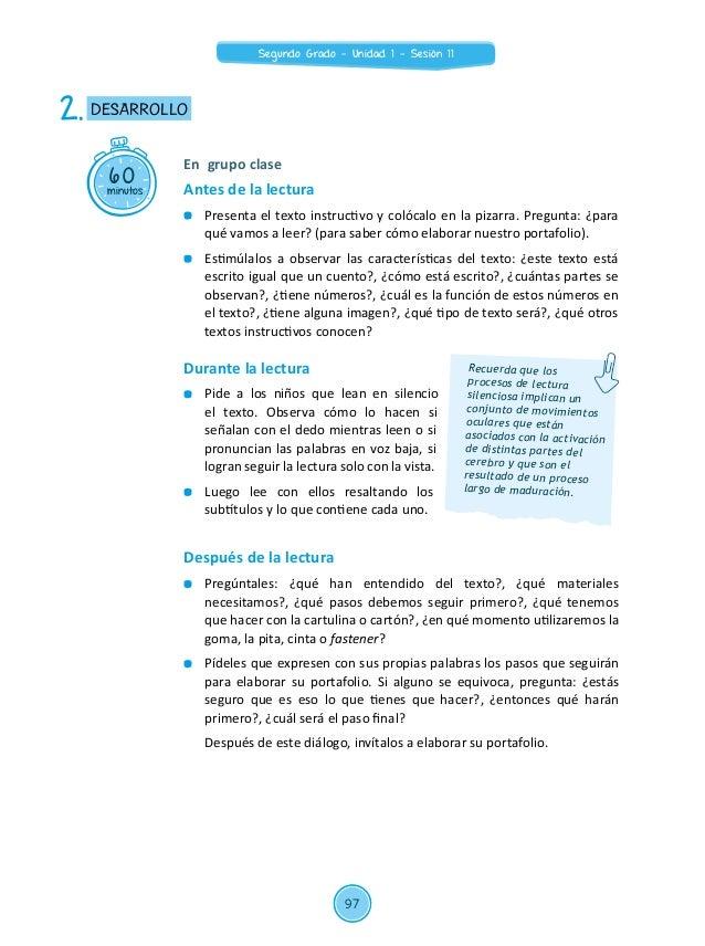 """Sesión de Aprendizaje 11 de Unidad Didáctica 01 del Área de Comunicación – Segundo  grado de Primaria 2015: """"Elaboramos nuestro portafolio"""" Slide 3"""