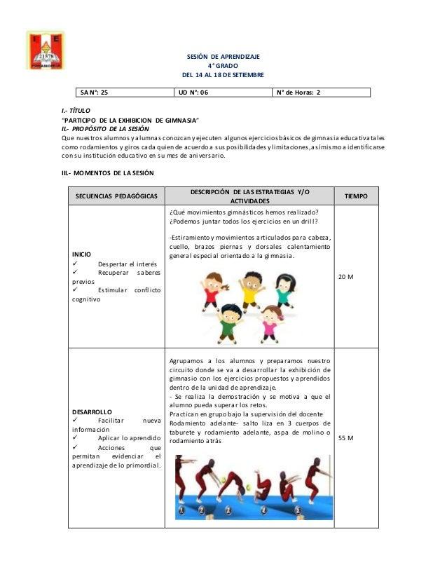 Sesi n de aprendizaje gimnasia for Gimnasia concepto
