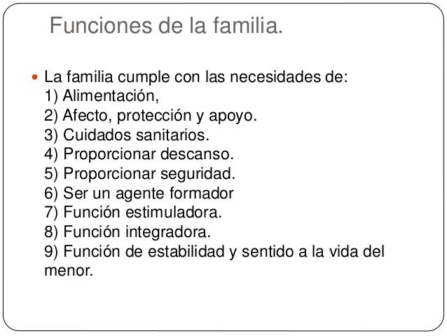 Famila conceptos funciones y cambios a trav s de la for Concepto de la familia para ninos