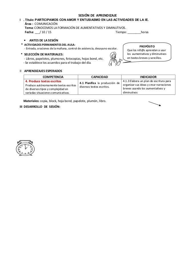 SESIÓN DE APRENDIZAJE I . Título: PARTICIPAMOS CON AMOR Y ENTUSIASMO EN LAS ACTIVIDADES DE LA IE. Área : COMUNICACIÓN Tema...