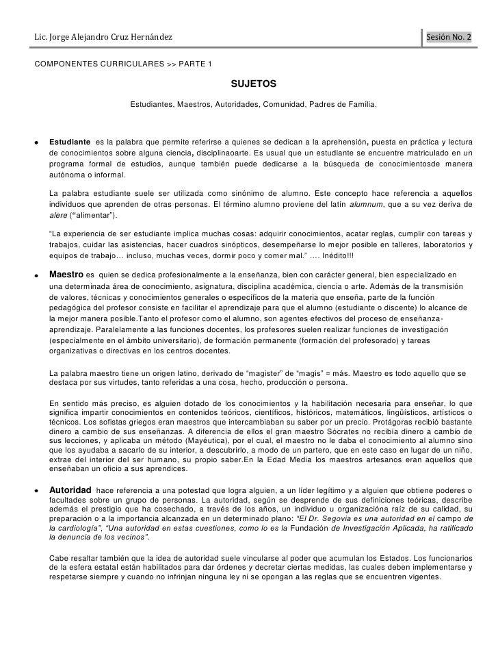 Lic. Jorge Alejandro Cruz Hernández                                                                           Sesión No. 2...