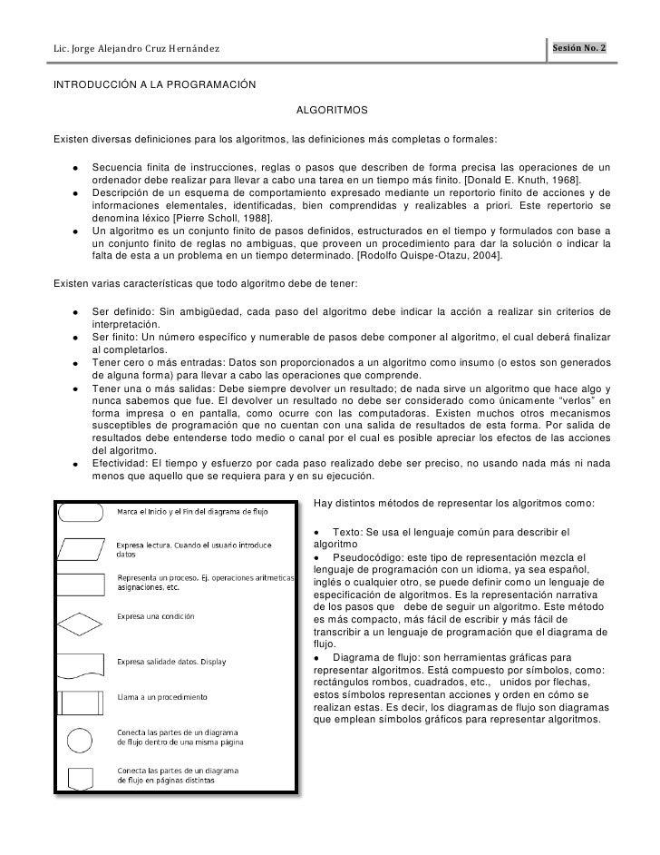 Lic. Jorge Alejandro Cruz Hernández                                                                     Sesión No. 2INTROD...