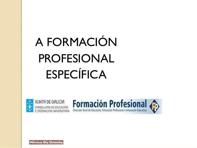 A FORMACIÓN PROFESIONAL ESPECÍFICA