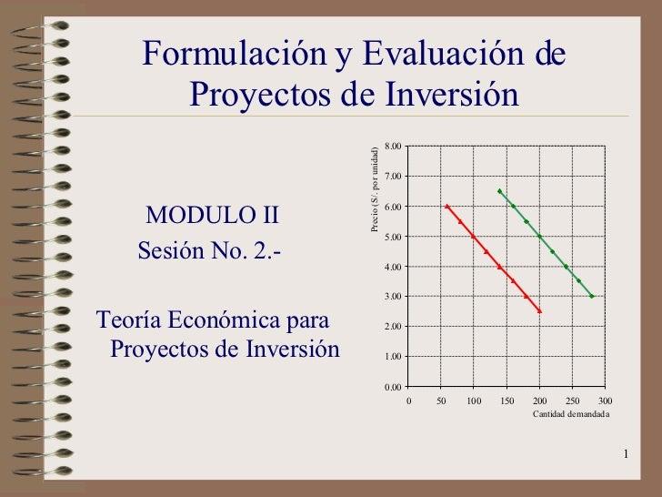 Formulación y Evaluación de Proyectos de Inversión <ul><li>MODULO II </li></ul><ul><li>Sesión No. 2.-  </li></ul><ul><li>T...