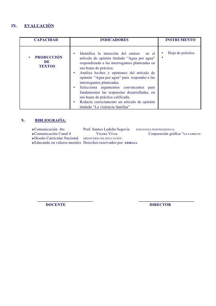 IX.    EVALUACIÓN                   CAPACIDAD                             INDICADORES                              INSTRUM...