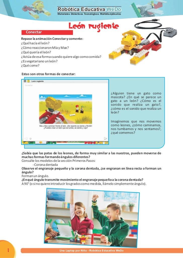 Robótica Educativa WeDo                           Materiales Didácticos Tecnológicos Multidisciplinarios                  ...