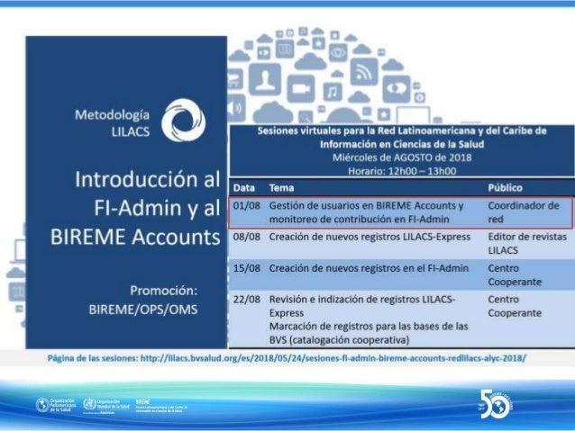 Seguridad e integridad de datos e información en la gestión de fuentes de información de la BVS en FI-Admin 1ª Sesión - 01...