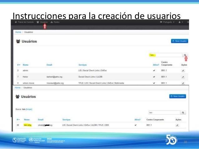 """Instrucciones para la creación de usuários: definición de F.I y perfiles 40Pinchar en """"Enviar"""""""