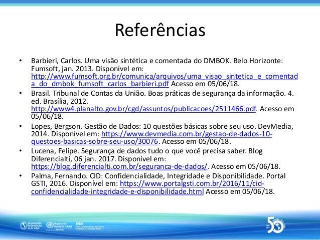 I sesión de agosto en la Red Latinoamericana de Información en Ciencias de la Salud - Seguridad e integridad de datos en l...
