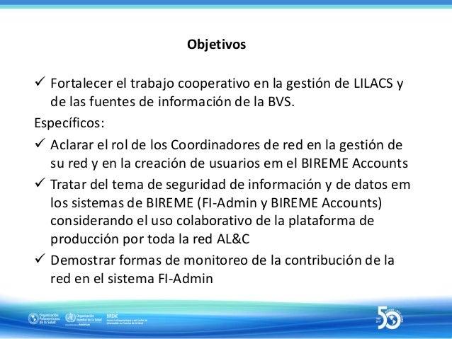 Arquitectura simplificada de la cooperación en el FI-Admin FI-Admin • Registros bibliográficos • Recursos de internet • Ev...