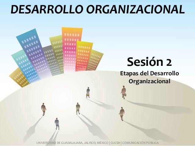 DESARROLLO ORGANIZACIONAL UNIVERSIDAD DE GUADALAJARA, JALISCO, MÉXICO   CUCSH   COMUNICACIÓN PÚBLICA Sesión 2 Etapas del D...