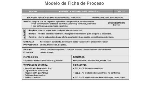 Modelo de Ficha de Proceso