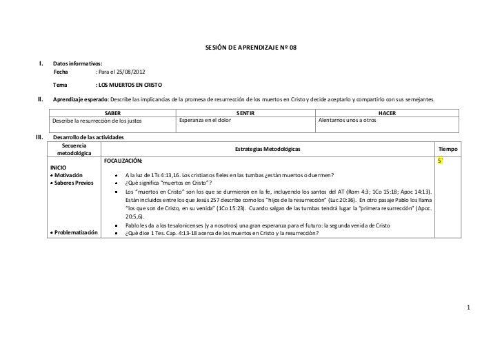SESIÓN DE APRENDIZAJE Nº 08 I.     Datos informativos:        Fecha           : Para el 25/08/2012        Tema            ...