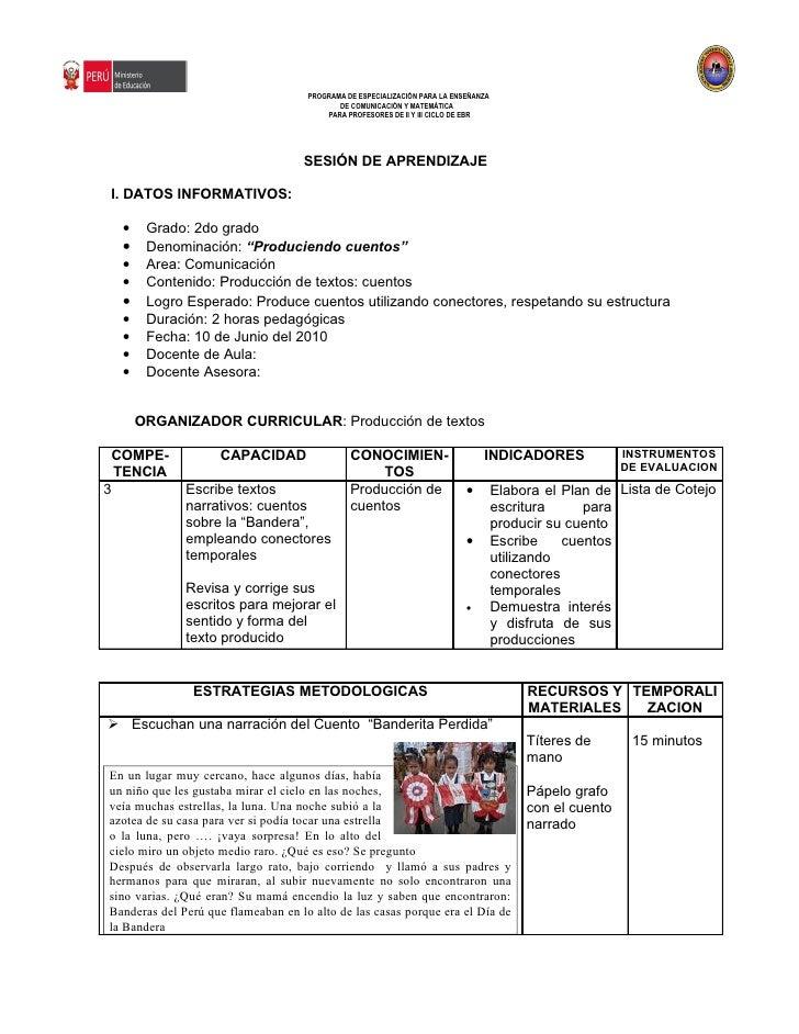 PROGRAMA DE ESPECIALIZACIÓN PARA LA ENSEÑANZA                                            DE COMUNICACIÓN Y MATEMÁTICA     ...