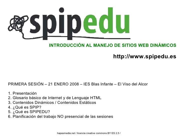 INTRODUCCIÓN AL MANEJO DE SITIOS WEB DINÁMICOS                                                                            ...