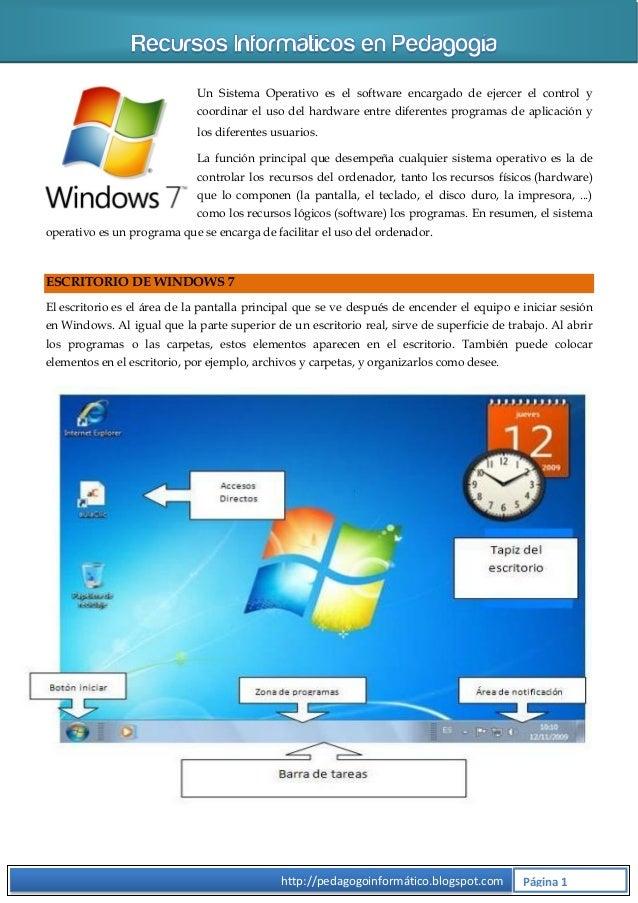 Un Sistema Operativo es el software encargado de ejercer el control y coordinar el uso del hardware entre diferentes progr...