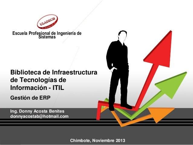 Escuela Profesional de Ingeniería de Sistemas  Biblioteca de Infraestructura de Tecnologías de Información - ITIL Gestión ...