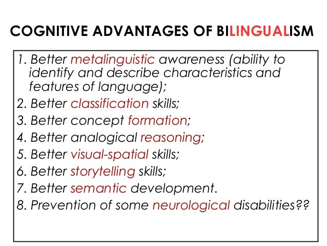 An introduction to the advantages of bilingualism