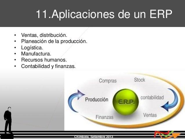 Chimbote, Setiembre 2013 • Ventas, distribución. • Planeación de la producción. • Logística. • Manufactura. • Recursos hum...