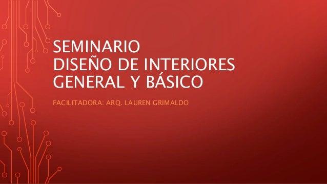 Programaci n de seminario de dise o de interiores for Diseno de interiores pdf