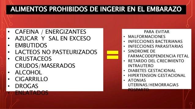 Psicoprofilaxis obstetrica sesi n 2 - Alimentos no permitidos en el embarazo ...