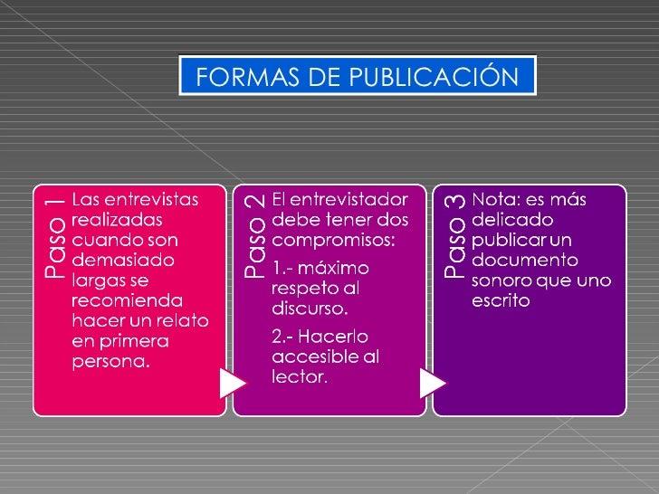 FORMAS DE PUBLICACIÓN