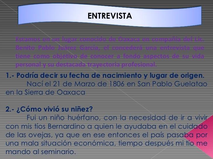 Estamos en un lugar conocido de Oaxaca en compañía del Lic. Benito Pablo Juárez García, el concederá una entrevista que ti...