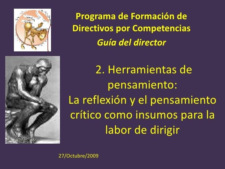 Programa de Formación de      Directivos por Competencias            Guía del director           2. Herramientas de       ...