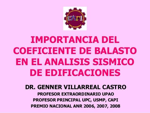 Importancia Del Coeficiente De Balasto En El Analisis