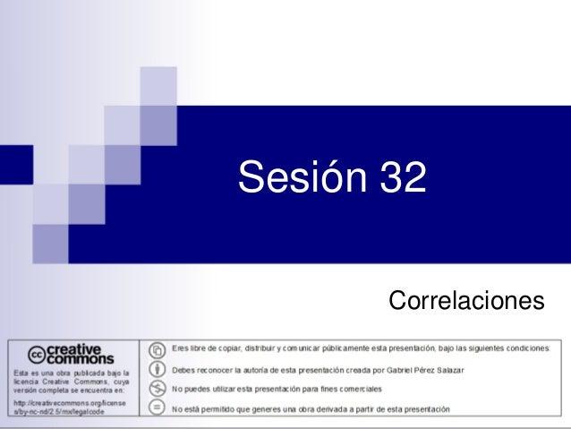 Sesión 32 Correlaciones