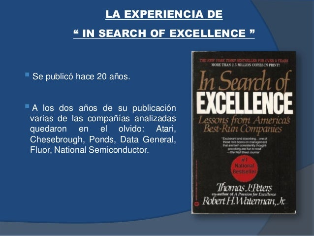  Se publicó hace 20 años.  A los dos años de su publicación varias de las compañías analizadas quedaron en el olvido: At...
