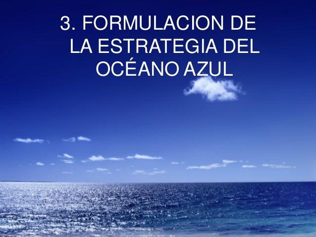 3. FORMULACION DE LA ESTRATEGIA DEL OCÉANO AZUL