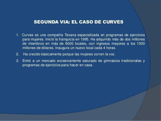 SEGUNDA VIA: EL CASO DE CURVES 1. Curves es una compañía Texana especializada en programas de ejercicios para mujeres. Ini...
