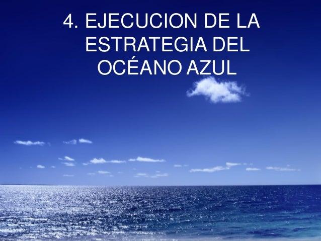 4. EJECUCION DE LA ESTRATEGIA DEL OCÉANO AZUL