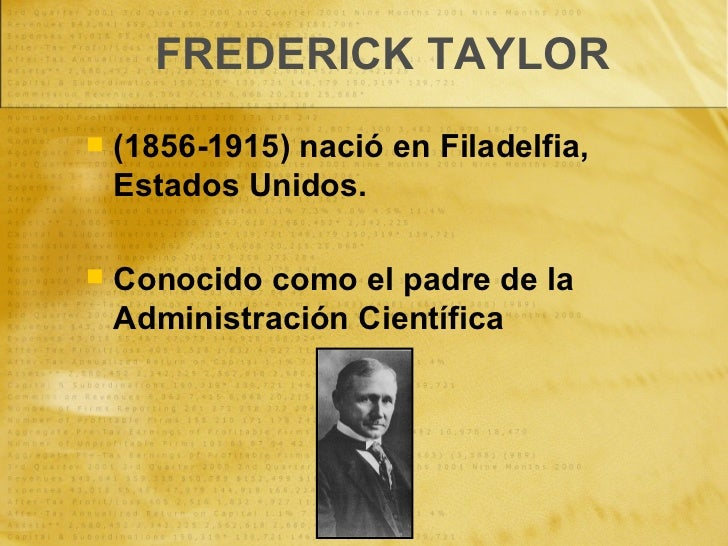 La Administración Científica y la Teoría Clásica Slide 2