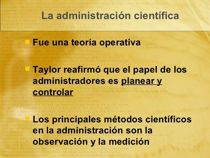 La Administración Científica y la Teoría Clásica Slide 3