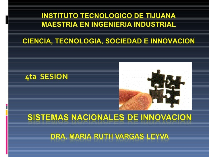 INSTITUTO TECNOLOGICO DE TIJUANA MAESTRIA EN INGENIERIA INDUSTRIAL CIENCIA, TECNOLOGIA, SOCIEDAD E INNOVACION 4ta  SESION