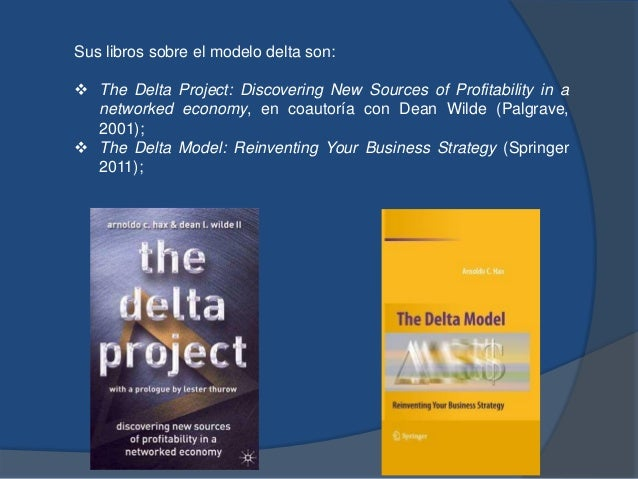 Sus libros sobre el modelo delta son:  The Delta Project: Discovering New Sources of Profitability in a networked economy...
