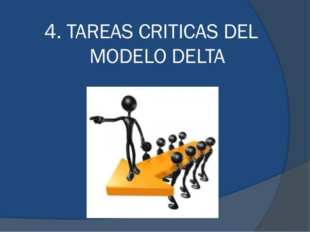 4. TAREAS CRITICAS DEL MODELO DELTA