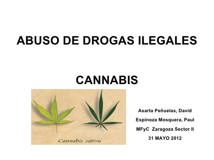ABUSO DE DROGAS ILEGALES                                CANNABIS                Asarta Peñuelas, David               Esp...