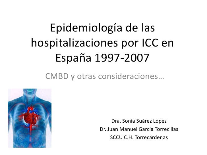 Epidemiología de lashospitalizaciones por ICC en    España 1997-2007  CMBD y otras consideraciones…                     Dr...